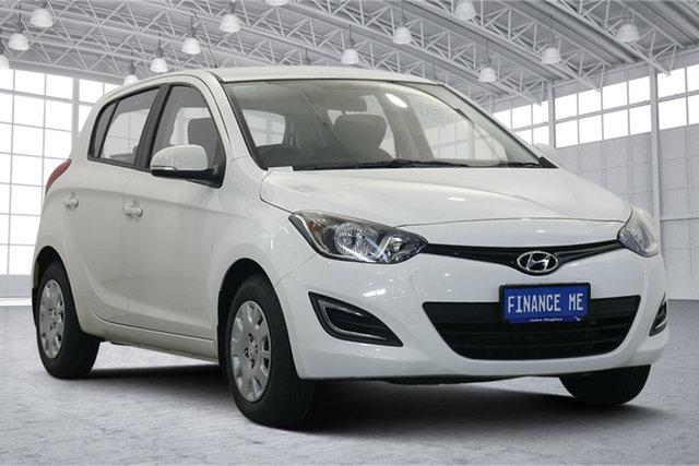 Used Hyundai i20 PB MY15 Active Victoria Park, 2015 Hyundai i20 PB MY15 Active Polar White 6 Speed Manual Hatchback