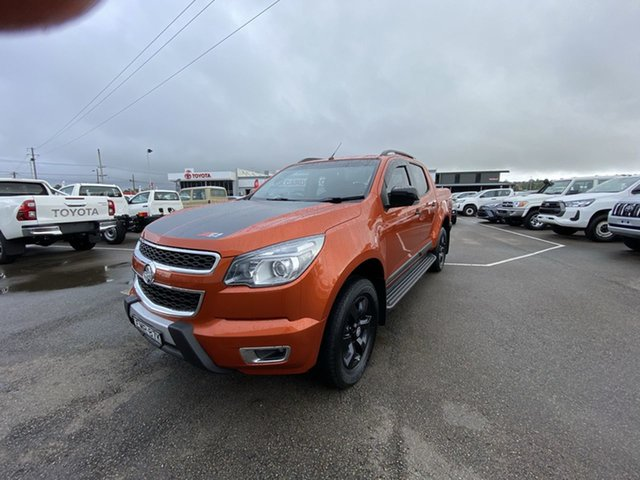 Pre-Owned Holden Colorado RG MY16 Z71 Crew Cab Cardiff, 2015 Holden Colorado RG MY16 Z71 Crew Cab Orange 6 Speed Sports Automatic Utility