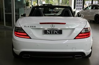 2014 Mercedes-Benz SLK-Class R172 805MY SLK200 7G-Tronic + White 7 Speed Sports Automatic Roadster