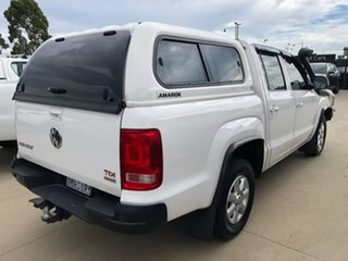 2013 Volkswagen Amarok 2H MY14 TDI420 4Motion Perm Trendline White 8 Speed Automatic Cab Chassis.