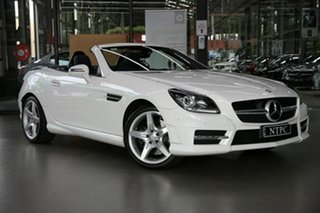2014 Mercedes-Benz SLK-Class R172 805MY SLK200 7G-Tronic + White 7 Speed Sports Automatic Roadster.