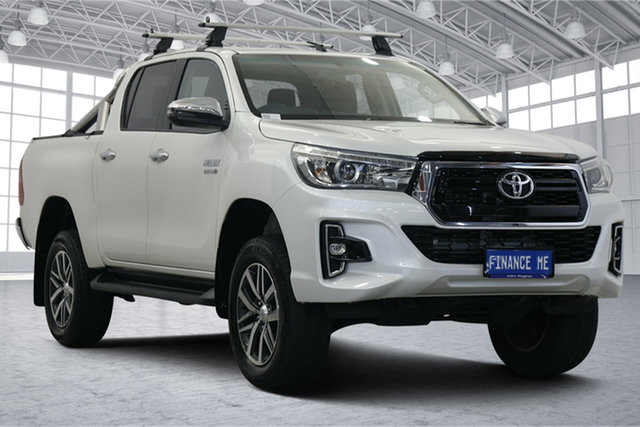 Used Toyota Hilux GUN126R SR5 Double Cab Victoria Park, 2018 Toyota Hilux GUN126R SR5 Double Cab White 6 Speed Sports Automatic Utility