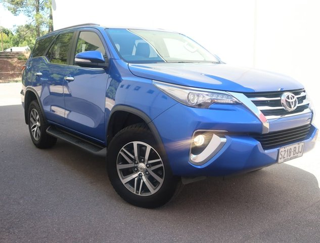 Used Toyota Fortuner GUN156R Crusade Reynella, 2015 Toyota Fortuner GUN156R Crusade Blue 6 Speed Automatic Wagon