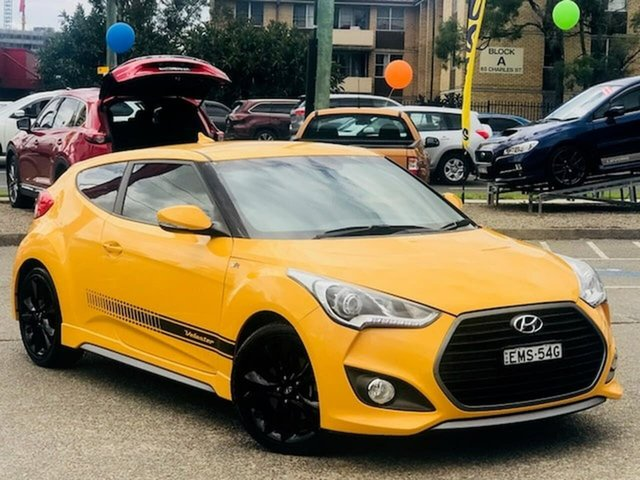 Used Hyundai Veloster FS4 Series II SR Coupe Turbo Liverpool, 2015 Hyundai Veloster FS4 Series II SR Coupe Turbo Yellow 6 Speed Manual Hatchback
