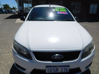 2011 Ford Falcon FG MkII Ute Super Cab White 6 Speed Sports Automatic Utility.