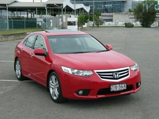 2012 Honda Accord 10 MY13 Euro Luxury Navi Red 5 Speed Automatic Sedan.