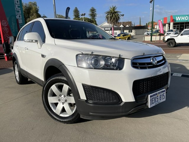 Used Holden Captiva CG MY15 7 LS (FWD) Victoria Park, 2014 Holden Captiva CG MY15 7 LS (FWD) White 6 Speed Automatic Wagon