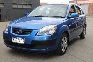 2007 Kia Rio JB LX Blue 4 Speed Automatic Hatchback