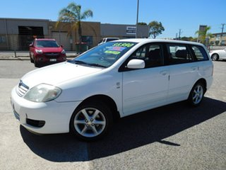 2006 Toyota Corolla ZZE122R 5Y Conquest White 4 Speed Automatic Wagon.