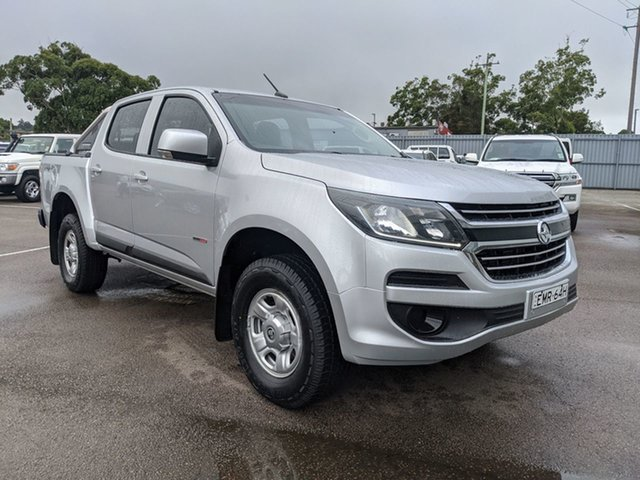 Used Holden Colorado RG MY18 LS Pickup Crew Cab Cardiff, 2017 Holden Colorado RG MY18 LS Pickup Crew Cab Silver 6 Speed Sports Automatic Utility