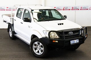 2011 Toyota Hilux KUN26R MY11 Upgrade SR (4x4) Super White 5 Speed Manual Dual Cab Chassis.
