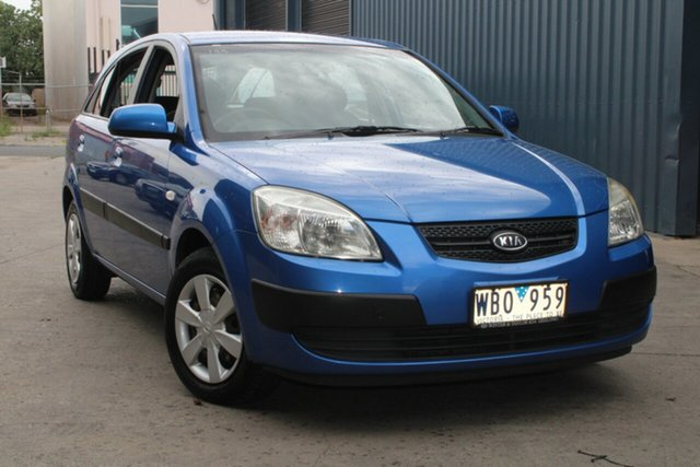 Used Kia Rio JB LX West Footscray, 2007 Kia Rio JB LX Blue 4 Speed Automatic Hatchback