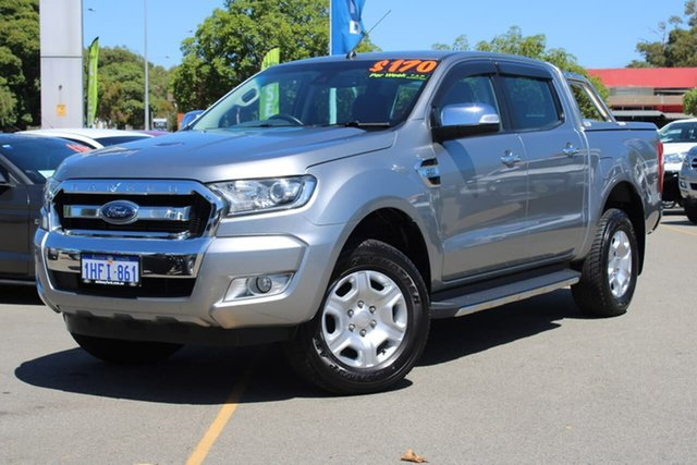 Used Ford Ranger PX MkII XLT Double Cab 4x2 Hi-Rider Midland, 2016 Ford Ranger PX MkII XLT Double Cab 4x2 Hi-Rider Silver 6 Speed Sports Automatic Utility
