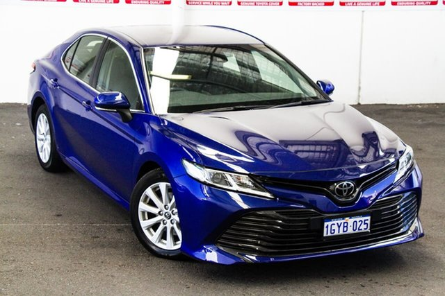 Pre-Owned Toyota Camry ASV70R Ascent Myaree, 2019 Toyota Camry ASV70R Ascent Lunar Blue 6 Speed Sports Automatic Sedan