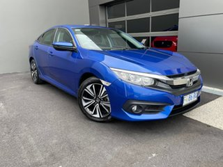 2016 Honda Civic 10th Gen MY16 VTi-L Blue 1 Speed Constant Variable Sedan.
