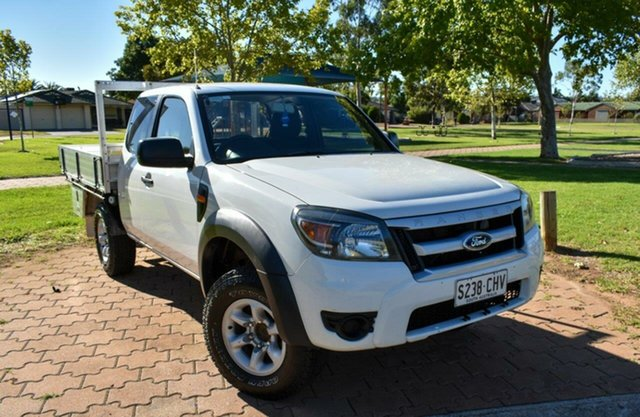 Used Ford Ranger PK XL Ingle Farm, 2009 Ford Ranger PK XL White 5 Speed Manual Cab Chassis