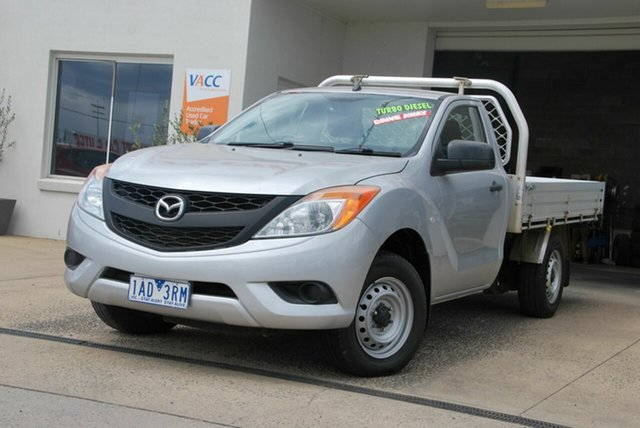 Used Mazda BT-50 MY13 XT (4x2) Wendouree, 2013 Mazda BT-50 MY13 XT (4x2) Silver 6 Speed Manual Cab Chassis