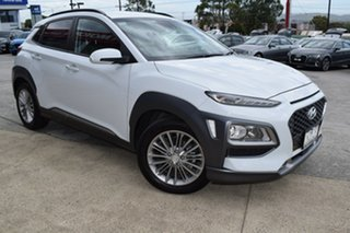 2018 Hyundai Kona OS MY18 Elite 2WD White 6 Speed Sports Automatic Wagon.