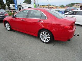 2007 Honda Accord Euro CL MY2007 Luxury Red 6 Speed Manual Sedan.