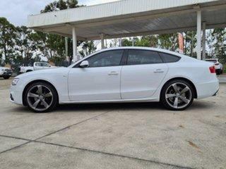2013 Audi A5 8T MY13 Sportback 3.0 TDI Quattro White 7 Speed Auto Direct Shift Hatchback