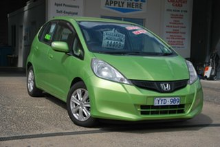 2012 Honda Jazz GE MY12 Vibe Green 5 Speed Automatic Hatchback.