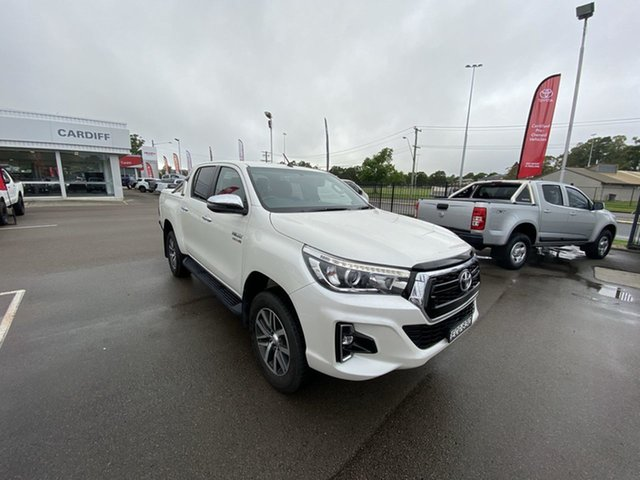 Pre-Owned Toyota Hilux GUN126R SR5 Double Cab Cardiff, 2019 Toyota Hilux GUN126R SR5 Double Cab White 6 Speed Sports Automatic Utility