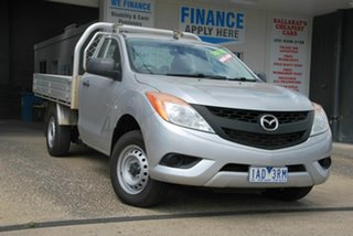 2013 Mazda BT-50 MY13 XT (4x2) Silver 6 Speed Manual Cab Chassis.