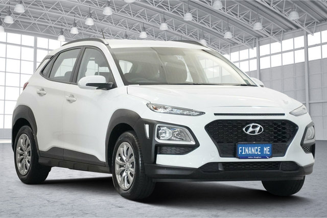 Used Hyundai Kona OS.3 MY20 Highlander 2WD Victoria Park, 2020 Hyundai Kona OS.3 MY20 Highlander 2WD Chalk White 6 Speed Sports Automatic Wagon