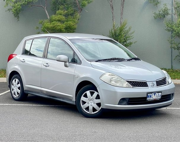 Used Nissan Tiida C11 MY07 ST Templestowe, 2007 Nissan Tiida C11 MY07 ST Silver 4 Speed Automatic Hatchback