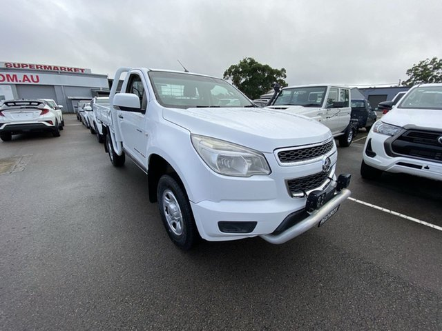 Pre-Owned Holden Colorado RG MY13 LX Cardiff, 2013 Holden Colorado RG MY13 LX White 5 Speed Manual Cab Chassis