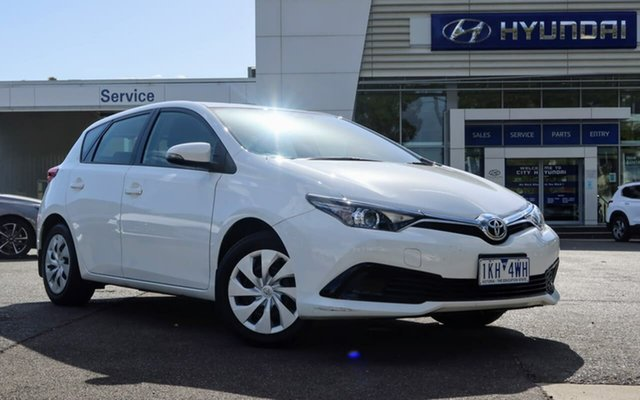 Used Toyota Corolla ZRE182R Ascent S-CVT South Melbourne, 2017 Toyota Corolla ZRE182R Ascent S-CVT White 7 Speed Constant Variable Hatchback