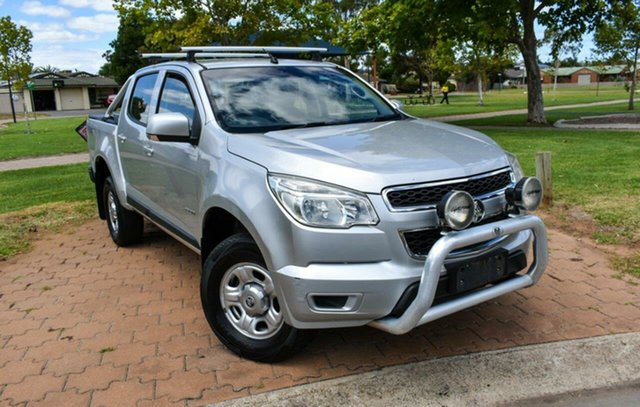 Used Holden Colorado RG MY13 LX Crew Cab Ingle Farm, 2013 Holden Colorado RG MY13 LX Crew Cab Silver 5 Speed Manual Utility