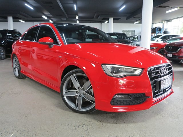 Used Audi A3 8V MY16 Ambition S Tronic Quattro Albion, 2016 Audi A3 8V MY16 Ambition S Tronic Quattro Misano Red 6 Speed Sports Automatic Dual Clutch Sedan
