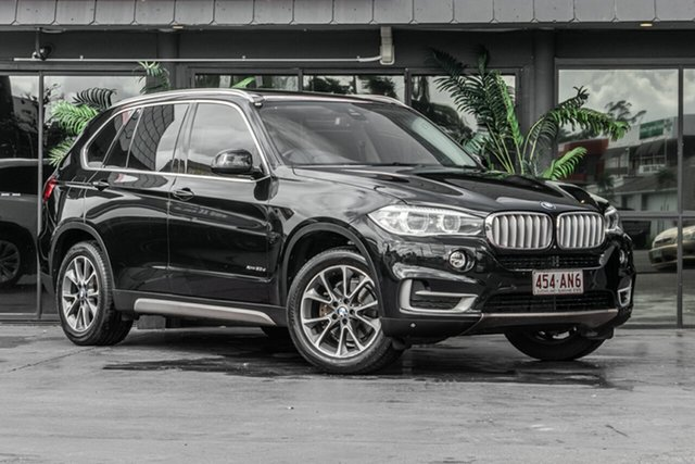 Used BMW X5 F15 xDrive30d Bowen Hills, 2014 BMW X5 F15 xDrive30d Black 8 Speed Sports Automatic Wagon