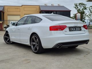 2013 Audi A5 8T MY13 Sportback 3.0 TDI Quattro White 7 Speed Auto Direct Shift Hatchback.