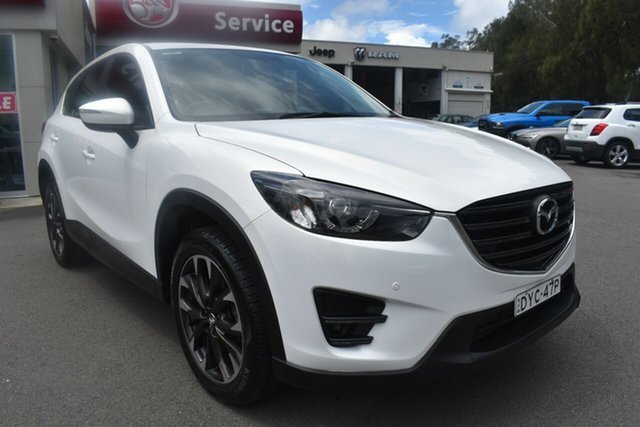 Used Mazda CX-5 KE1022 Grand Touring SKYACTIV-Drive AWD Gosford, 2015 Mazda CX-5 KE1022 Grand Touring SKYACTIV-Drive AWD White 6 Speed Sports Automatic Wagon