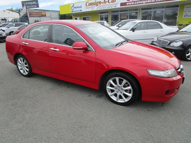 Used Honda Accord Euro CL MY2007 Luxury Kedron, 2007 Honda Accord Euro CL MY2007 Luxury Red 6 Speed Manual Sedan