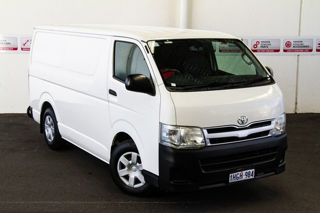 Pre-Owned Toyota HiAce KDH201R MY12 Upgrade LWB Myaree, 2013 Toyota HiAce KDH201R MY12 Upgrade LWB French Vanilla 5 Speed Manual Van