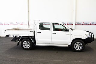 2011 Toyota Hilux KUN26R MY11 Upgrade SR (4x4) Super White 5 Speed Manual Dual Cab Chassis