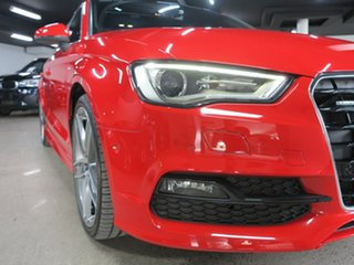 2016 Audi A3 8V MY16 Ambition S Tronic Quattro Misano Red 6 Speed Sports Automatic Dual Clutch Sedan