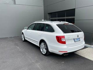 2014 Skoda Superb 3T MY14 Elegance DSG 125TDI White 6 Speed Sports Automatic Dual Clutch Wagon