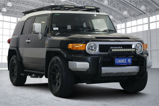 Used Toyota FJ Cruiser GSJ15R MY14 Victoria Park, 2014 Toyota FJ Cruiser GSJ15R MY14 Black 5 Speed Automatic Wagon