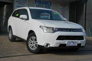 2012 Mitsubishi Outlander ZJ LS (4x2) White Continuous Variable Wagon.
