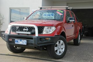 2008 Nissan Navara D40 ST-X (4x4) Red 6 Speed Manual Dual Cab Pick-up.