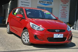 2016 Hyundai Accent RB4 MY16 Active Red 6 Speed CVT Auto Sequential Hatchback.