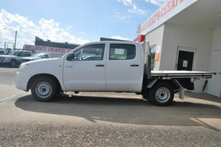 2010 Toyota Hilux KUN16R MY11 Upgrade SR White 5 Speed Manual Dual Cab Pick-up