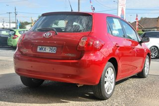 2008 Toyota Corolla ZRE152R Conquest Red 4 Speed Automatic Hatchback