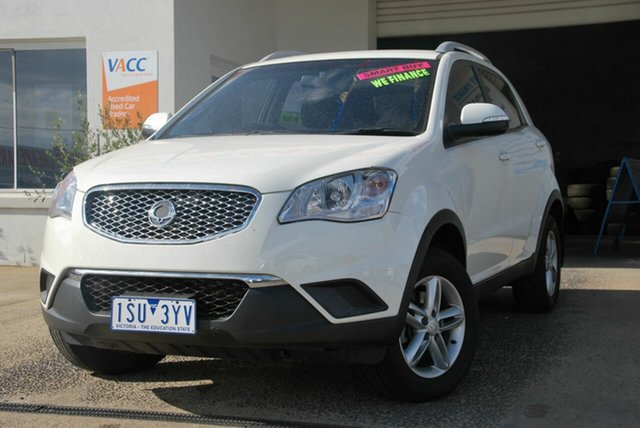 Used Ssangyong Korando C200 MY13 S Wendouree, 2013 Ssangyong Korando C200 MY13 S White 6 Speed Manual Wagon