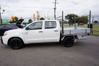 2007 Toyota Hilux TGN16R MY07 Workmate 4x2 Glacier White 5 Speed Manual Utility