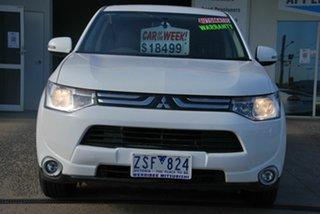 2012 Mitsubishi Outlander ZJ LS (4x2) White Continuous Variable Wagon